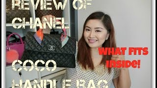 Review of Chanel Coco Handle Bag + What Fits Inside!