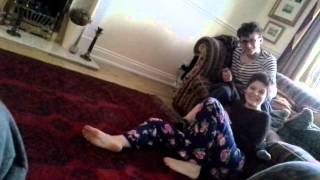 getlinkyoutube.com-Funny brother and sister wrestling match