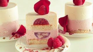 getlinkyoutube.com-Raspberry Lychee Individual Mousse Cakes with Rose Water – Ispahan Dessert Version