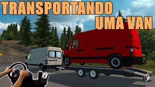 getlinkyoutube.com-EURO TRUCK SIMULATOR 2 - TRANSPORTANDO UMA VAN, VOLANTE LOGITECH G27!!!