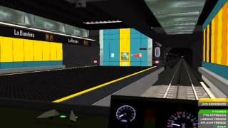 getlinkyoutube.com-[OpenBve] Metro de Caracas Linea 3 Virtual Plaza Venezuela - El Valle (Recorrido)