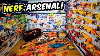 getlinkyoutube.com-WAY TOO MANY NERF GUNS! (Nerf Arsenal Update | Over 175 Blasters)