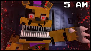 getlinkyoutube.com-Minecraft FNAF - Nightmare Fredbear | 5 AM (FNAF Minecraft Roleplay)
