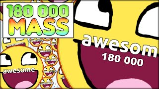 getlinkyoutube.com-180 000 AGARIO MASS! THE BIGGEST CELL EVER - AS BIG AS THE MAP (MOST ADDICTIVE GAME - AGAR.IO #34)