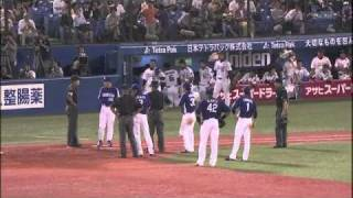 2010.9.18 中日vsヤクルト この誤審で優勝逃したらどうするの?審判