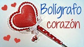 getlinkyoutube.com-Manualidades San Valentin: Cómo decorar un bolígrafo corazón. Heart pen. (San Valentín)