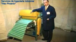 getlinkyoutube.com-Fabricación Plegadoras zig-zag para fibra de filtros, Troqueladoras, engomadoras, troqueles