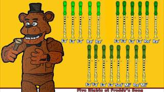 Five Nights at Freddy's 1 en Flauta Dulce con Notas