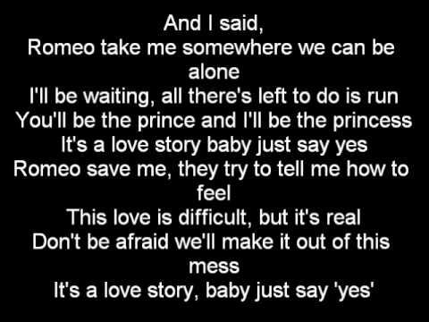 Romeo Save Me - Romeo Ft. Taylor Swift Lyrics