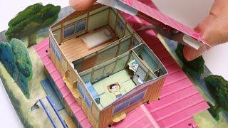 getlinkyoutube.com-Diy Doraemon House Paper Craft