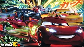 getlinkyoutube.com-Disney Pixar Cars Fast as Lightning McQueen: Neon Lightning McQueen Unlocked