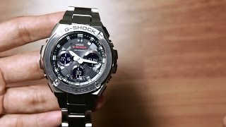 getlinkyoutube.com-Casio G-shock G-steel GST-S110D-1A * NEW layer guard structure