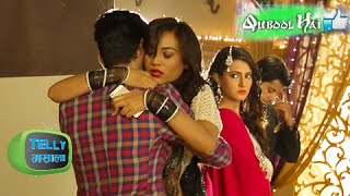 getlinkyoutube.com-Jannat Hugs Shaad in Front of Aahil in Qubool Hai | On Location | Zee Tv