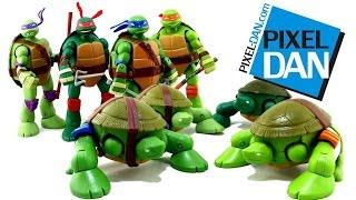 getlinkyoutube.com-Teenage Mutant Ninja Turtles Mutations Pet Turtle to Ninja Turtles Figures Video Review