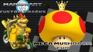 getlinkyoutube.com-Mario Kart Wii - Custom Tracks | Mega Mushroom Cup