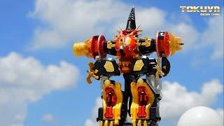 getlinkyoutube.com-[TMT][035] Review DX  Max Ohja! Bakuryuu Sentai Abaranger! 爆竜戦隊アバレンジャー! Mezodon Megazord