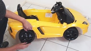 getlinkyoutube.com-Lamborghini Aventador Ride On Toy Car Remote Control UNBOXING DIY LP700-4