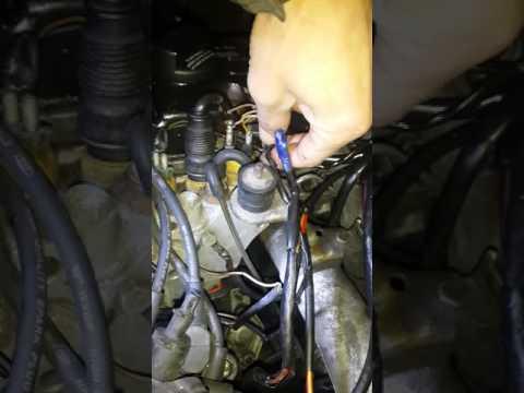 Где датчик коленвала в Мерседес W124