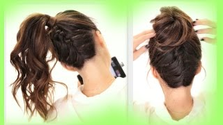 getlinkyoutube.com-★2 Cute BRAIDS BACK-TO-SCHOOL HAIRSTYLES | Braided Messy Bun Hairstyle