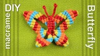 getlinkyoutube.com-How to: Macramé Butterfly / Papillon, Farfalla, Mariposa, Borboleta, Schmetterling, Бабочка