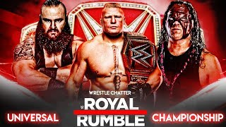 Brock Lesnar Vs Braun Strowman Vs Kane Match Prediction At Royal Rumble 2018 Highlights Match Card