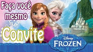 getlinkyoutube.com-Faça um convite tema Frozen e economize na festa do seu filho