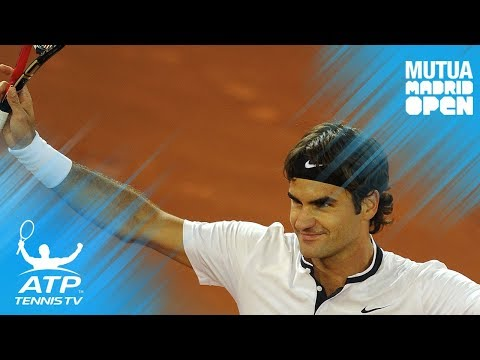 Roger Federer no-look fake shot! | Mutua Madrid Open 2010