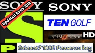 Asiasat 7 105.5E Sony Package  Powervu key | new update 2018 |  Bad News |
