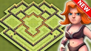getlinkyoutube.com-Clash Of Clans | EPIC TH8 HYBRID BASE FOR NEW UPDATE | BEST Town Hall 8 Farming / Trophy Base