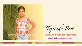 getlinkyoutube.com-Blusa tejida a crochet con grannys cuadrados