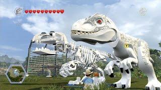 getlinkyoutube.com-LEGO Jurassic World - All Playable Characters, Dinos & Vehicles Unlocked | Free Roam Gameplay [HD]