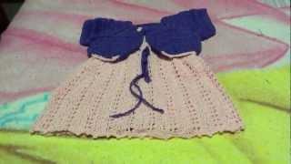 getlinkyoutube.com-Vestido  para bebe a crochet o ganchillo