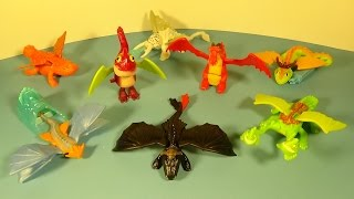 getlinkyoutube.com-2014 HOW TO TRAIN YOUR DRAGON 2 SET OF 8 McDONALD'S HAPPY MEAL MOVIE TOY'S VIDEO REVIEW