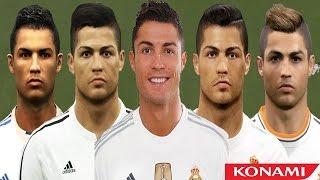 getlinkyoutube.com-Cristiano RONALDO from PES 3 to PES 2016 (vs Real Face Comparison)