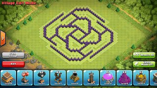 getlinkyoutube.com-Clash of Clans- Complex Town Hall 8 defense/war base (The Razor)
