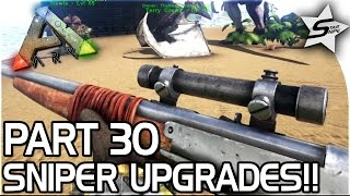getlinkyoutube.com-SNIPER UPGRADES, TRANQ DARTS!! - ARK Survival Evolved PS4 PRO Gameplay Part 30