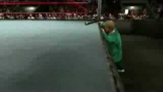 getlinkyoutube.com-Smackdown vs Raw 2009:Hornswoggle Under The Ring