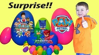 Nickelodeon Paw Patrol mystery Surprise Box + Disney PJ Masks, Candy, Surprise Eggs opening & MORE!