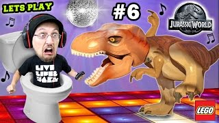 getlinkyoutube.com-Lets Play LEGO Jurassic World Part 6: ♫ DINO Dance Moves ♫ w/ Scary Ending! (THE END, Seriously!)