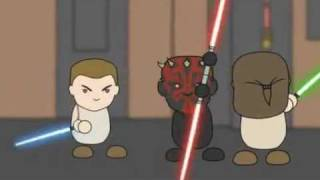 getlinkyoutube.com-Darth Maul vs. Qui-Gon feat. Obi-Wan