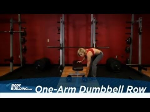 One-Arm Dumbbell Row Exercise - Middle Back Workout! - Bodybuilding.com