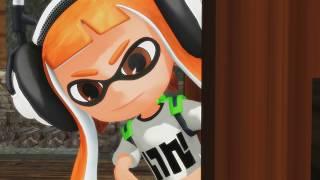 "getlinkyoutube.com-MMD Splatoon - ""Kiss Thief"" -  Orange x Blue Inklings girl boy - funny meme animation"