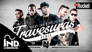 getlinkyoutube.com-Travesuras Remix - Nicky Jam Ft De La Ghetto, J balvin, Zion y Arcangel | Video Lyric