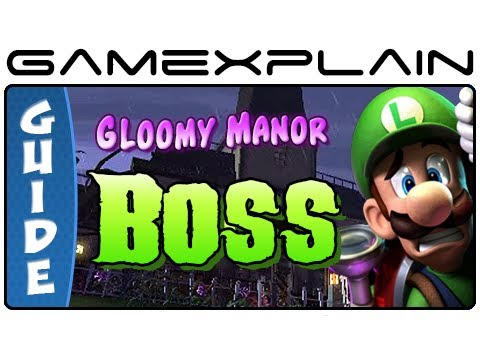 Luigi's Mansion 2: Dark Moon: Gloomy Manor Boss Battle Gem, Boo & Puzzle Guide & Walkthrough