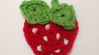 getlinkyoutube.com-How To Crochet A Cute Strawberry Applique - DIY Crafts Tutorial - Guidecentral