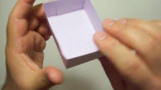 كيف تصنع علبه من ورق ?