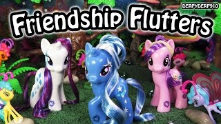 getlinkyoutube.com-My Little Pony Cutie Mark Magic Friendship Flutters Breezies Rarity Trixie Suri MLP Toy Review