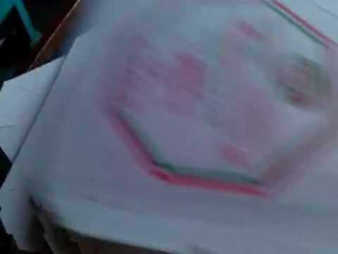 Maquina de pintar caixa de pizza.6000 caixas horas.TEL-MAQ.
