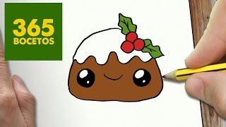 getlinkyoutube.com-COMO DIBUJAR UN CUPCAKE PARA NAVIDAD PASO A PASO: Dibujos kawaii navideños - How to draw a cupcake