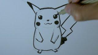 getlinkyoutube.com-Wie zeichnet man Pikachu Pokemon - Online Zeichnen Lernen